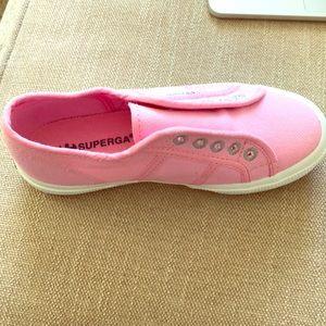 Kids pink Superga shoes
